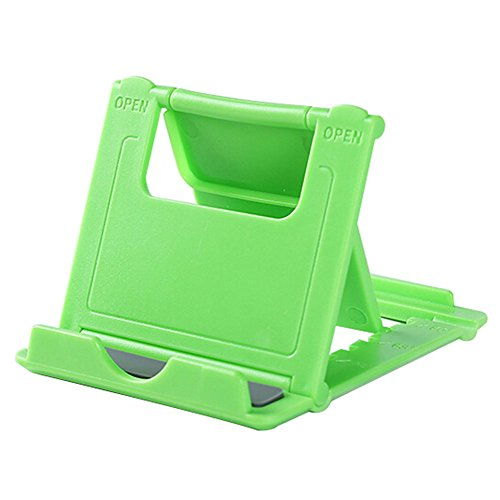 weimay universal Phone Soporte iPad Soporte Soporte plegable creativo para la mayoría de smartphones, tablets, e-readers, por ejemplo, iPhone, iPad, etc., color verde verde verde