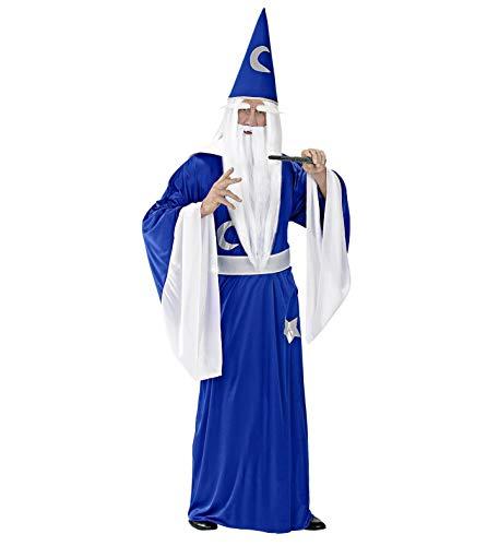 Kostüm Frauen Passende Und Männer - Widmann 35103 - Erwachsenenkostüm Zauberer, Tunika mit Kragen, Gürtel und Hut