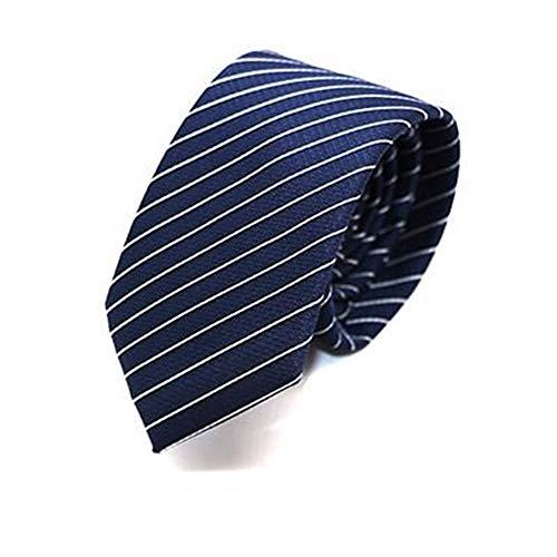 WUNDEPYTIE Krawatte Männer Klassischen Gestreiften Kleid Business Casual Anzug Job Interview Hochzeit Wilde Modelle, Blauen Diagonale Streifen - Blau Diagonale Streifen-krawatte