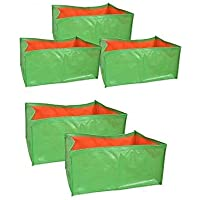 voolex Polyethylene Grow Bags, 18x12x9 Inches, 5 Pieces