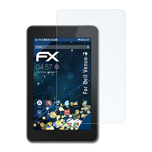 atFolix Schutzfolie kompatibel mit Dell Venue 7 Panzerfolie, ultraklare & stoßdämpfende FX Folie (2X)