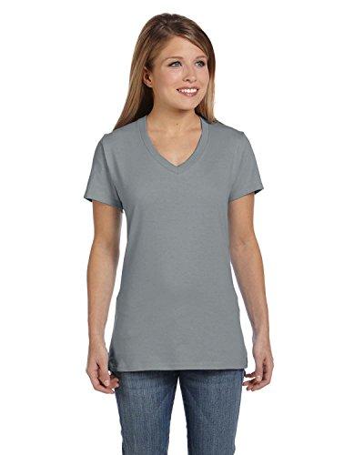 hanes-nano-t-cuello-en-v-t-shirt-de-la-mujer-vintage-gray-x-large