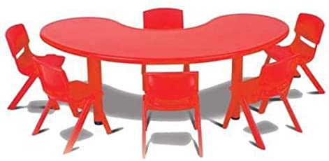 Intra Kids School Study Big Moon Table (Multicolour)