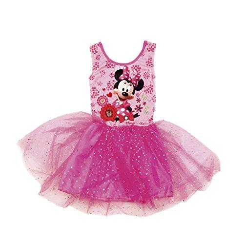 Disney Minnie Maus Kleid Kurzarm mit Glitzer (92) (Disney Princess Tutu Kleid)