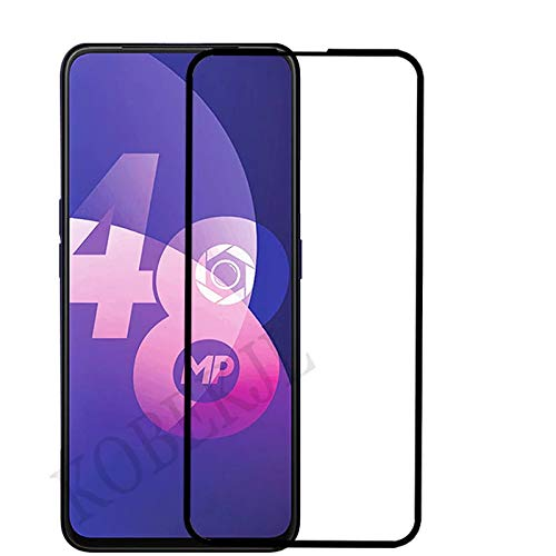 Tingtong Full Glue, Full Coverage Edge-to-Edge 6D/11D Tempered Glass Screen Protector for Oppo F11 Pro (Black)
