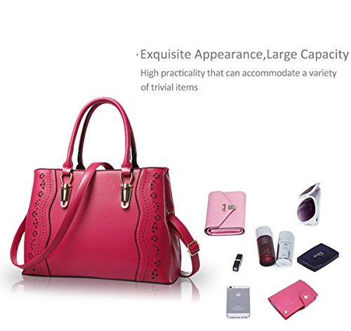 Nicole&Doris Signore / Donne / borsa tracolla donna(Rose) rosa