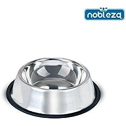 Comedero para perros Nobleza, de acero inoxidable, diámetro 18 cm