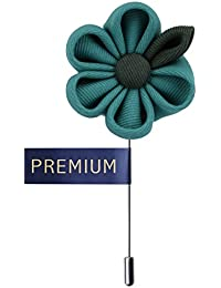 Peluche Dual Shaded Beauty - Sea Green & Dark Green Colored Brooch/Lapel Pin For Men | Genuine Branded Product