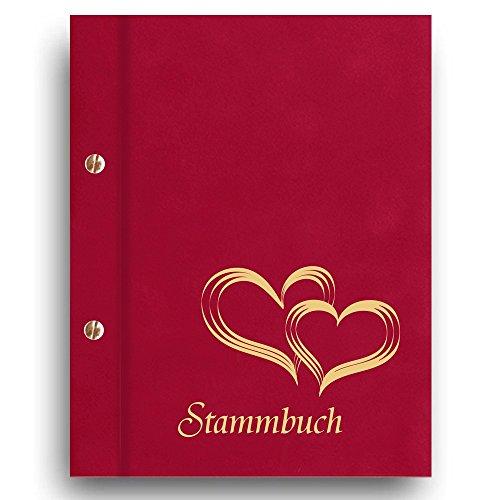 e 'Glamour' Familienbuch Familienstammbuch Stammbaum Stammbücher - A5 rot ()