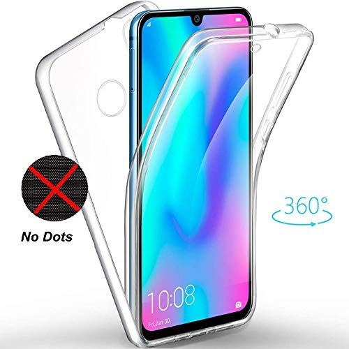 Huawei P Smart 2019 Case, Ultra Thin 360 [Front and Back Protection] [Full  clear-no dots] [double silicon] [Slim TPU] [P Smart 2019 Front and Back