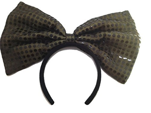 Sequin Bow Headband :H1 (Black) by Products4ushop Sequin Bow Headband