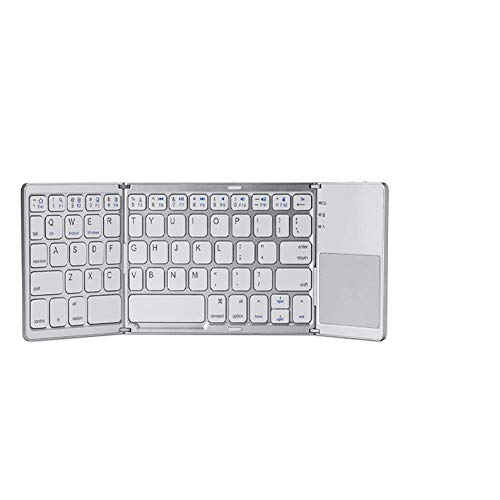 YUNYIN Faltbare Bluetooth-Tastatur - Tragbare kabellose Tastatur für iOS, Android und Windows Tablets - Smartphone, Phone, Pad, Laptop, PC, Pocket Mini Size Pocket Pc Phone