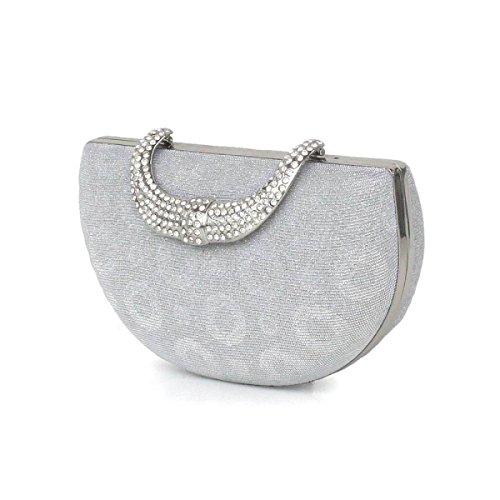 Lady Sacchetto Del Pranzo Borsa Da Sera Nuova Borsa Ragazza Matrimonio Bag Silver