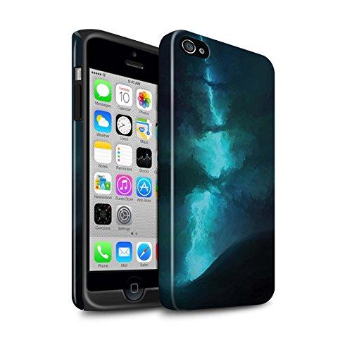 Offiziell Chris Cold Hülle / Glanz Harten Stoßfest Case für Apple iPhone 4/4S / Pack 12pcs Muster / Fremden Welt Kosmos Kollektion Elektro-Sturm