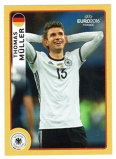 Panini McDonald´s Sticker M4 Thomas Müller UEFA EURO 2016 FRANCE