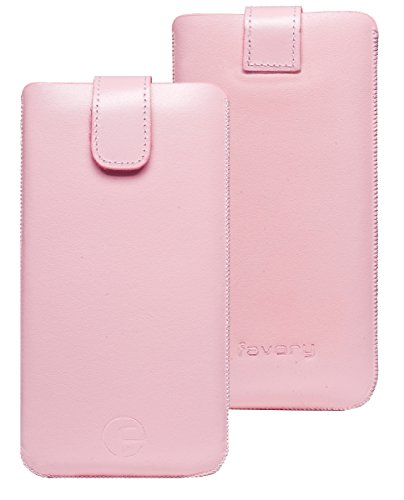 Favory Etui Tasche für / Motorola Moto G 4G LTE (2. Gen.) / Leder Handytasche Ledertasche Schutzhülle Case Hülle *Lasche mit Rückzugfunktion* in rosa