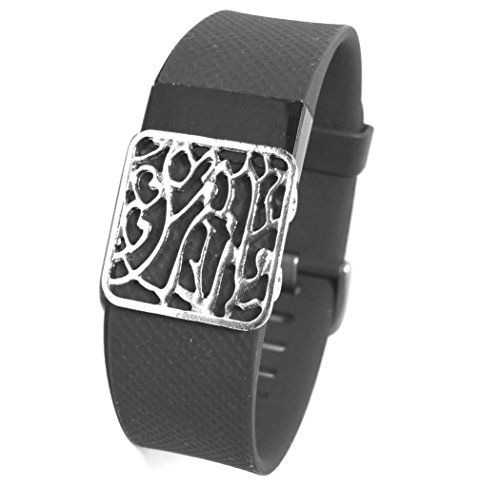 Fitness Band Bling Accessory for Fitbit Charge 2 Heart Rate + Fitness Wristband , charge hr (ONLY bling accessory, NO TRACKERS, no wristband)