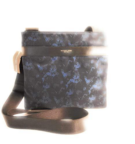 Michael Kors Crosbody Herren Tasche schwarz und blau Nylon 27x25x2.5cm neu (Männer Handtaschen Michael Kors)