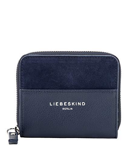 Liebeskind Berlin Damen Upsidedown Suede - Sabia Wallet Medium Geldbörse, Blau (Mood Indigo), 2x8x10 cm