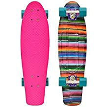 Penny Skateboard 22 Graphic Series - Skateboard ( bolas, ejes, original, tablas, premium ), color blanco (baja), talla 22 Zoll