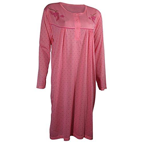 Lavazio -  Camicia da notte  - Donna Muster 2 Punkte lachs