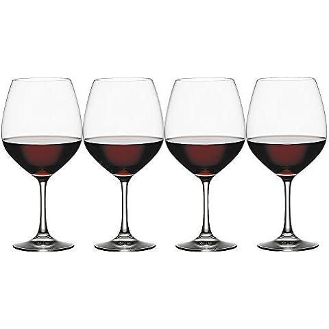 Spiegelau Vino Grande Vino Tinto-Balón, Set de 4, Vaso Vino Tinto, Copa de Vino, Cristal, 710 ml,