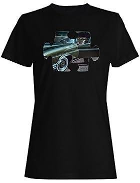 Rompecabezas viejo vintage hermoso coche camiseta de las mujeres e578f