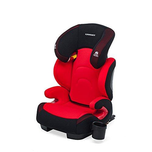 Foppapedretti Best Duofix Seggiolino Auto, Gruppo 2/3 (15-26kg), per Bambini da 3 a 12 Anni circa, Rosso
