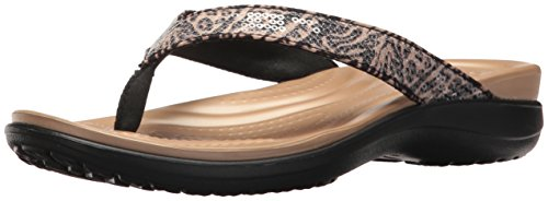 Crocs Women's Capri V Graphic Sequin Flip -