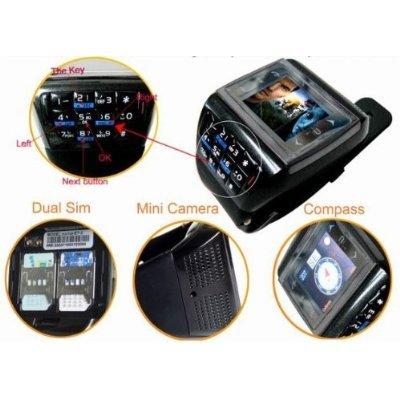 """VANZ - Transport Gratuit-1.3 """"Double Carte SIM Quad Band tactile à écran tactile montre téléphone avec Bluetooth FM Caméra"""