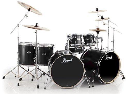 Pearl-EXL-Double-Bass-Drum-Kit-Ltd-Edition-Matt-Satin-Black-EXL727C256