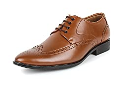 San Frissco Mens Tan Brogue Shoes - 8 UK
