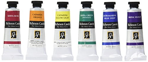 Jack Richeson Casein Künstler Farbe Theorie (Set von 6)
