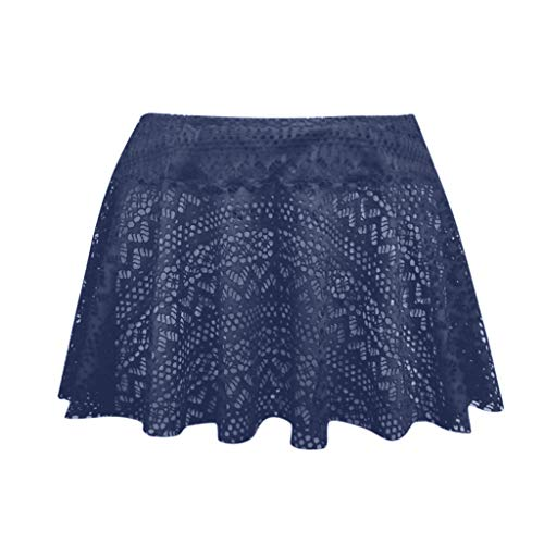 Beonzale Frauen Lace Crochet Skirted Bikini Bottom Badeanzug Short Skort Swim Skirt Bikini Bademode Badeanzug -