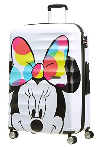 American Tourister Disney Wavebreaker Bagaglio a Mano, L (77cm-96L), Multicolore (Minnie Close-Up)