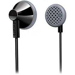Philips SHE2000 Écouteurs Intra-auriculaires avec Embouts Compacts, Bass Beat, Noir