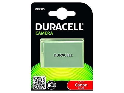 Duracell Premium Analog Canon LP-E8 Battery for EOS 550D 600D 700D 7.4V 1020mAh