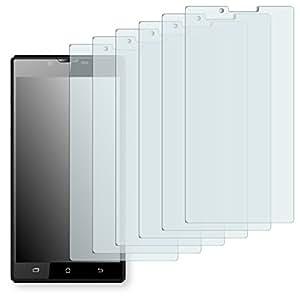 6x Golebo crystal Film de protection d'écran pour Archos 55 Platinum (surface cristalline, application sans soufflures, découpe sur mesure)