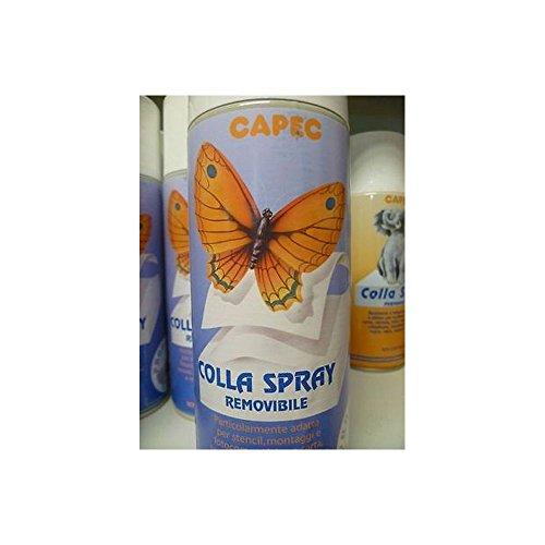 Colla spray removibile - per stencil foto tessuto - 400ml - capec