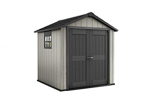 *Keter DUOTECH Oakland 757 Gerätehaus Gartenhaus Kunststoff Geräte-Schuppen Holz-Optik 229 x 223,5 x 242 cm*