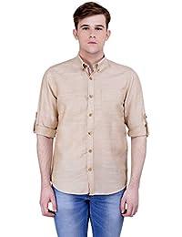 4Stripes Men's Cotton Linen Shirt