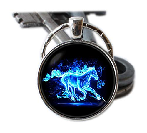 Racing Horse Schlüsselanhänger Horse Lover Geschenk Rodeo Wild Horse Schlüsselanhänger