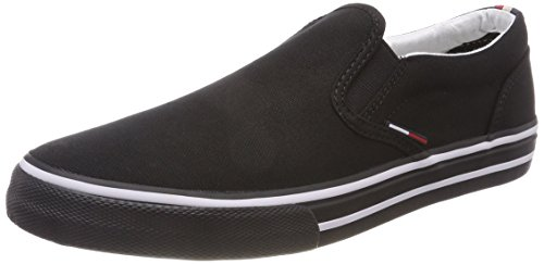 Tommy_Jeans Herren Textile Slip ON Sneaker, Schwarz (Black 990), 46 EU High-top-slip