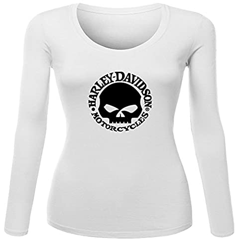 Harley Davidson Skull Printed For Ladies Womens Long Sleeves Outlet