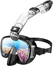Máscara de Snorkel y Buceo Profesional, Gafas de Snorkel con Innovador Sistema de Respiración Integrado, Persp