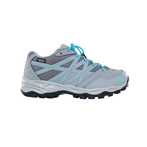 THE NORTH FACE Unisex-Kinder Jr Hedgehog Hiker Wp Trekking- & Wanderhalbschuhe Grau (Griffin Grey/Blue Curacao 4Nz) 32 EU -