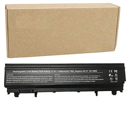 Batterie PC Portable pour Dell Latitude E5540 E5440 Notebook 451-BBIF  451-BBIE 3K7J7 9TJ2J VV0NF 0K8HC 1N9C0 FJTXY (10 8V 5200mAh Noir)