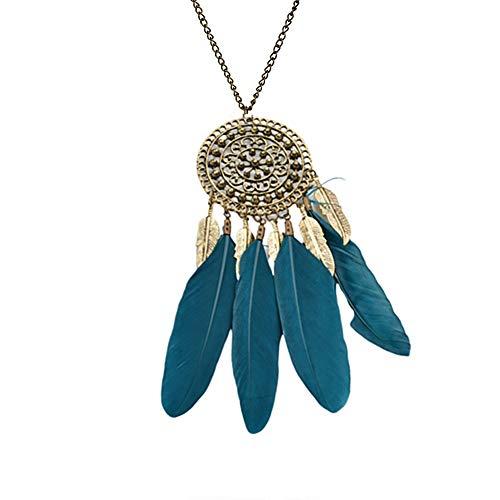 JZTRADING Quaste Halskette Für Frauen Für Hochzeit Retro Noble Lange Pullover Anhänger Halskette Green -