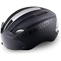 Exclusky AGT Road Bike Helmet CE Certified with Removable Shield Visor Cycling Bicycle Helmets For Adults Men and Women Lightweight Adjustable