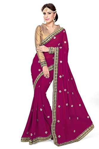 Mirchi Fashion Damen Bollywood Kostüm Indian Sari Kleid mit Ungesteckt Oberteil/Top (Sari Indische Weiße)